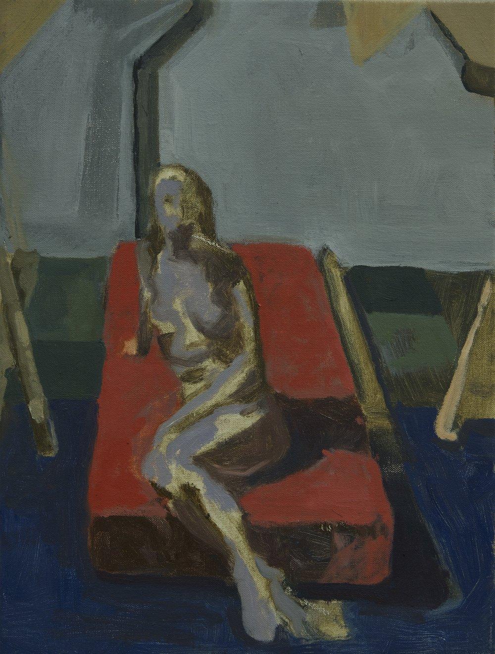 Martens (unfinished), 40 x 30 cm, oil on linen, 2018