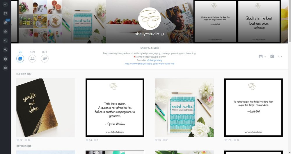 @shellycstudio+on+Inconosquare Must-Have Instagram Management Tools by Shelly Carpenter of Shelly C Studio Hinesville GA Savannah Georgia Blogger Graphic Designer Social Media Manager Content Creator Web Designer