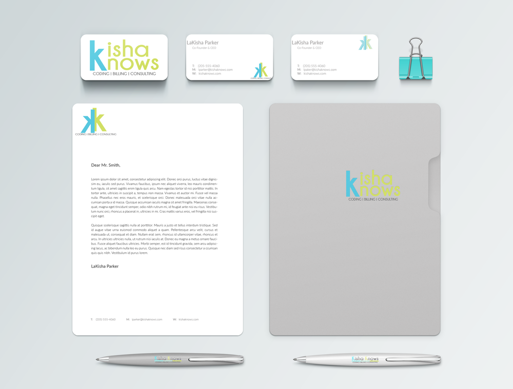 Kisha Knows Coding Branding Identity Mockup_KKC by Shelly C Studio Hinesville Savannah GA Graphic Design, Website Design