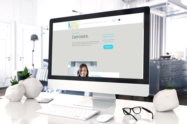 Kisha Knows Coding Website Redesign by Shelly C. Studio