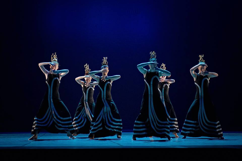 The Dance Conservatory of Eva Jacz in Bratislava performing the female chorus from Nigh Journey by Martha Graham at their final concert in the Slovak National Theater on May 16th 2018.