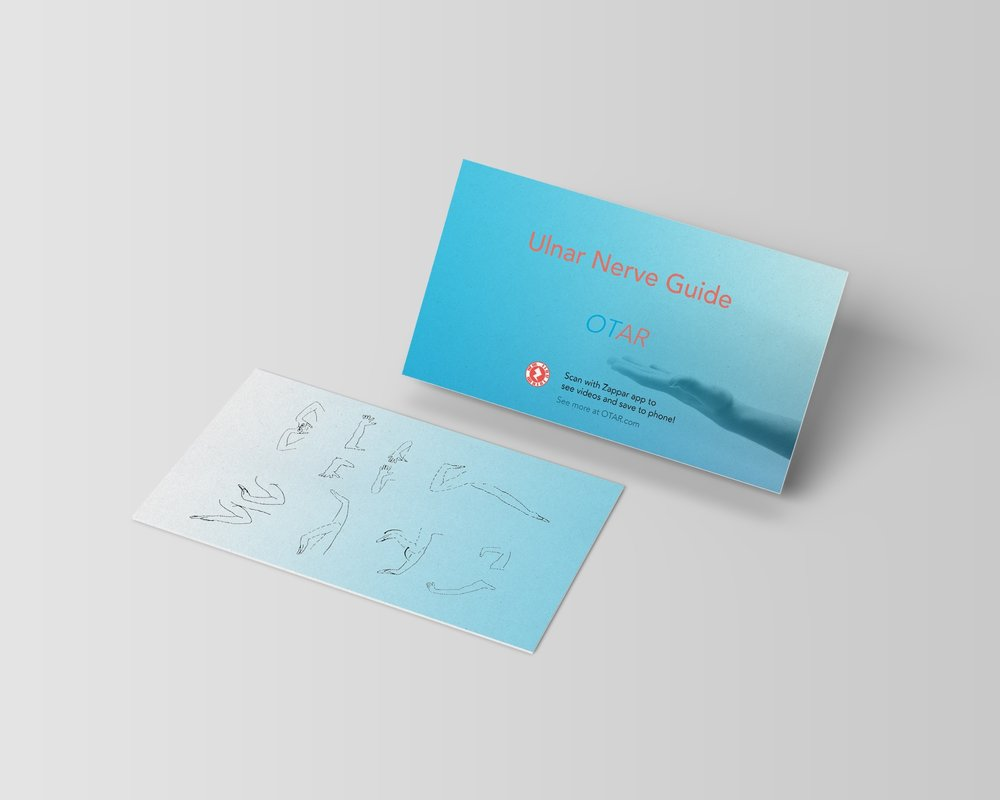 Physical Therapy is inaccessible - and hard. OTAR is a multi platform system that heightens accessibility.Art Direction/Creative Concept. Branding. Digital UX/UI Website & Mobile App. Coded Augmented Reality. Printed Collateral.