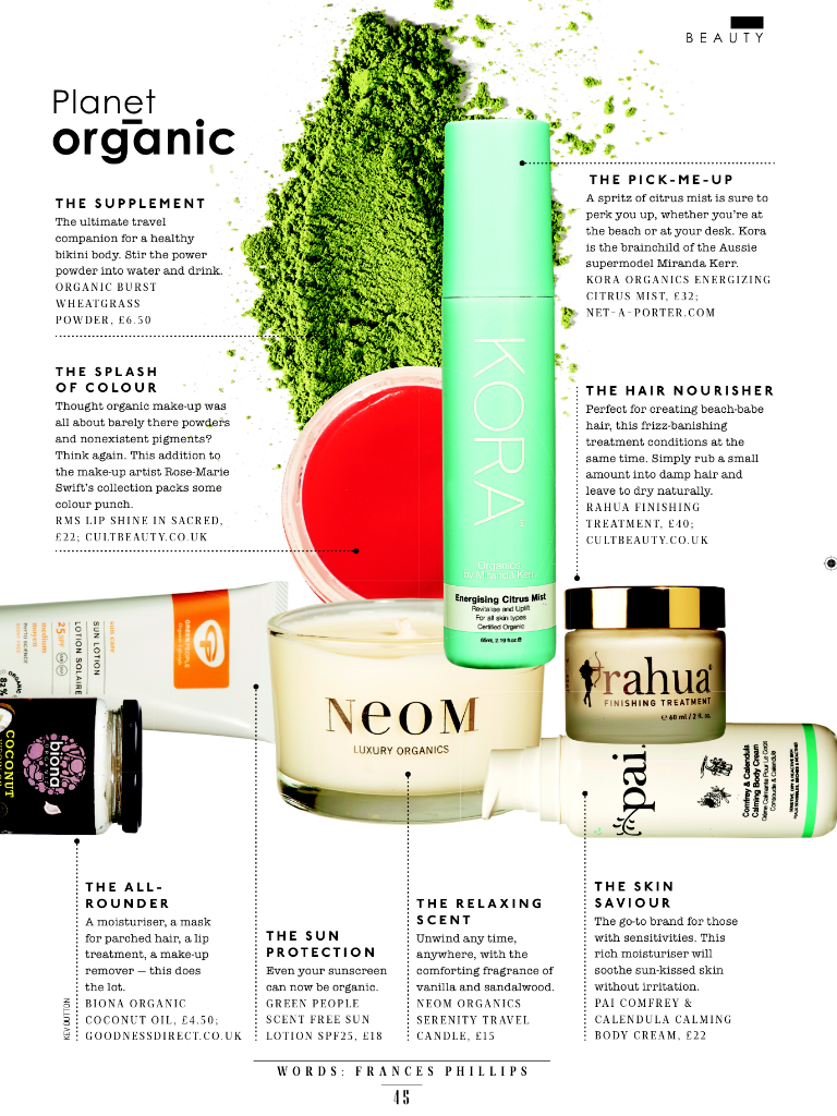 SUNDAY TIMES STYLE - 'PLANET ORGANIC'