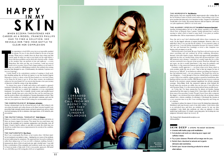 SUNDAY TIMES STYLE - 'HAPPY IN MY SKIN'