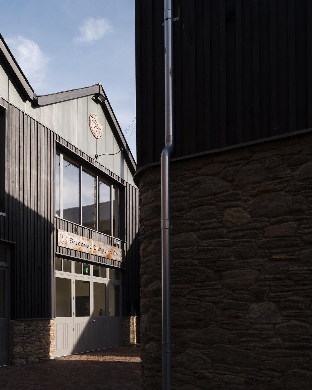 Salcombe Distillery building entrance