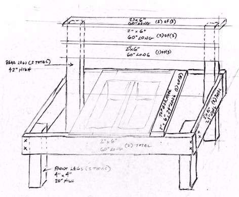 Heres A Sketch Of The Mud Kitchen Along With Actual Size Pieces To Cut