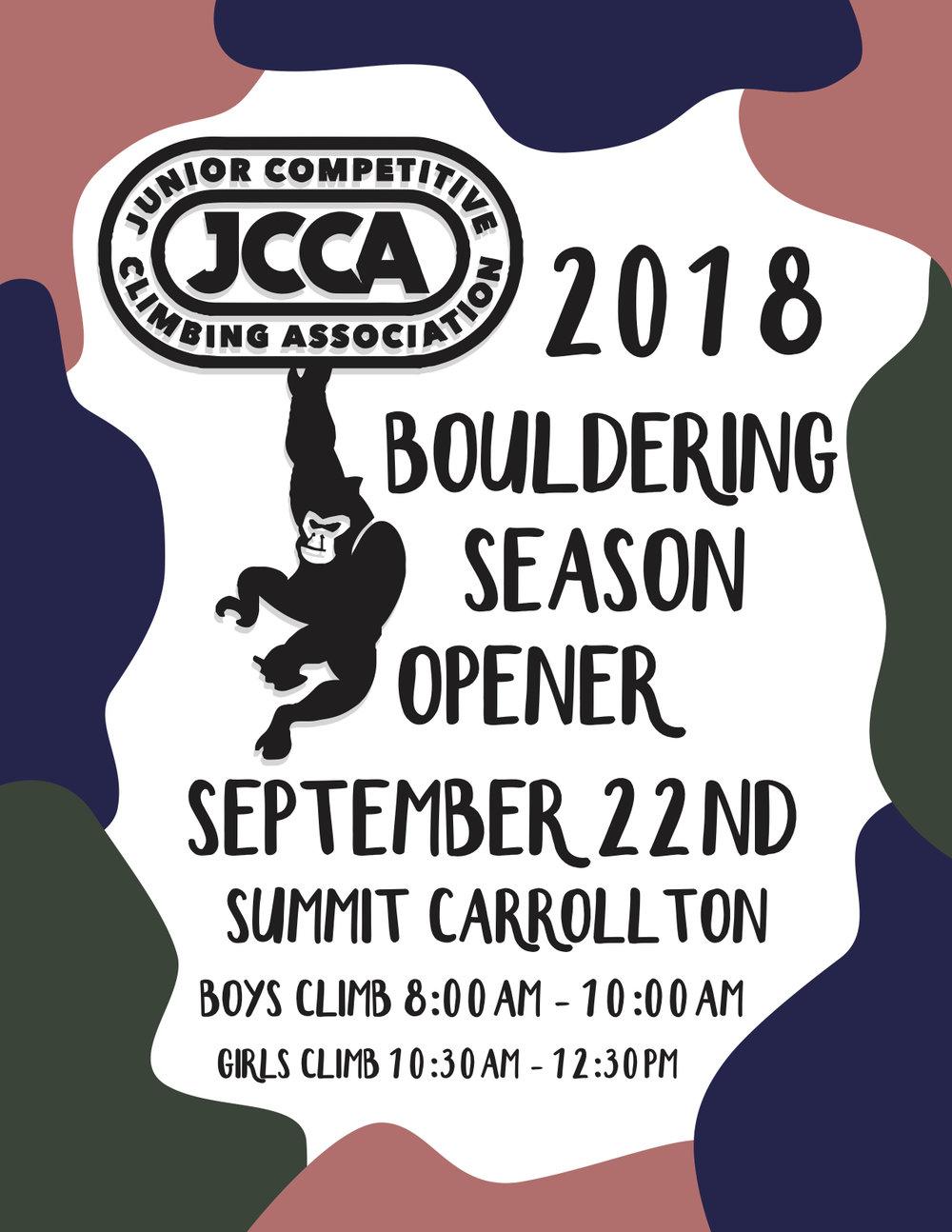 2018 Bouldering Results -