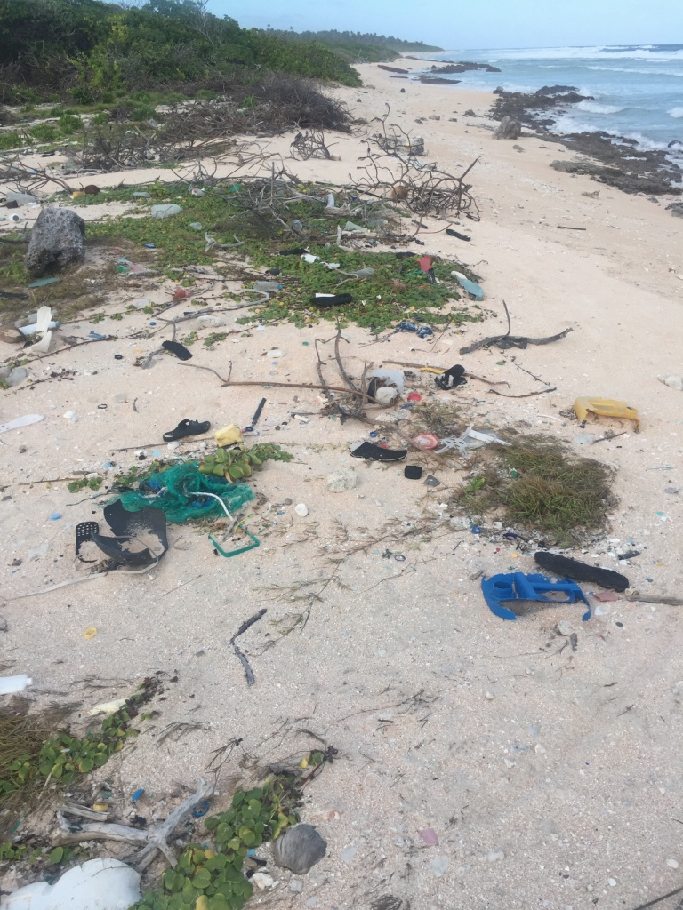 Trash on Mejit Island, Republic of the Marshall Islands. Author's photo.