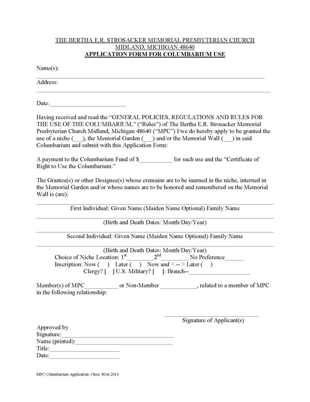 Columbarium Application -