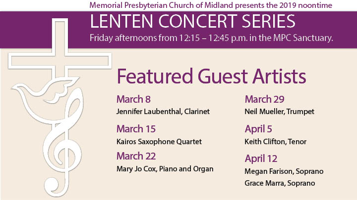 Upcoming MPC Events — Memorial Presbyterian Church