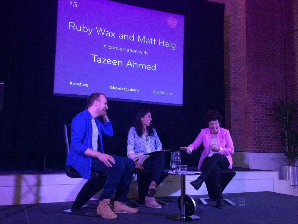 Chair - in conversation with Ruby Wax and Matt Haig