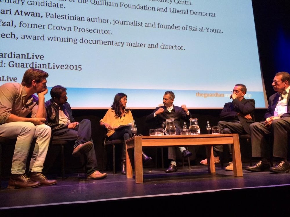 "Chair of panel for the Guardian Live of 'The psychology of terror"" 2014"