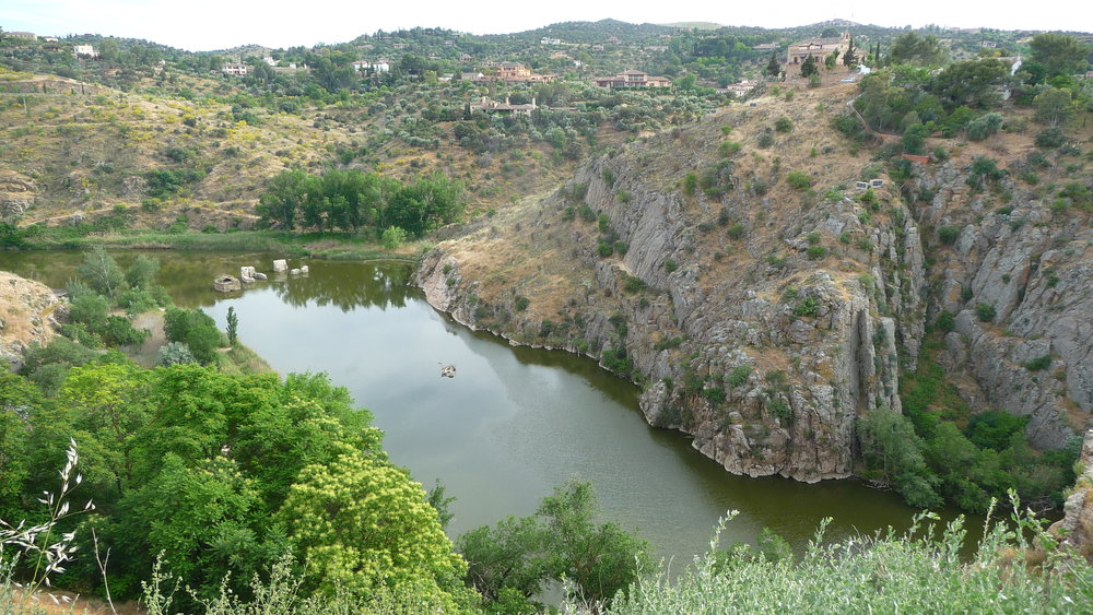 View of the Tajo River from Jardines del Transito