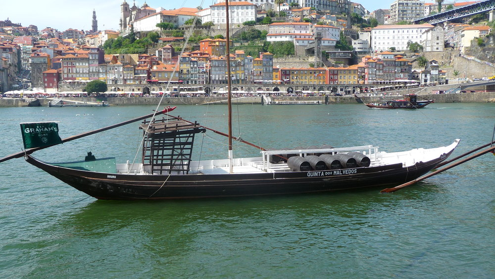 Replica of rabelos that took port from their birth place 60 miles up the Douro to he lodges of Vila Nova de Gaia