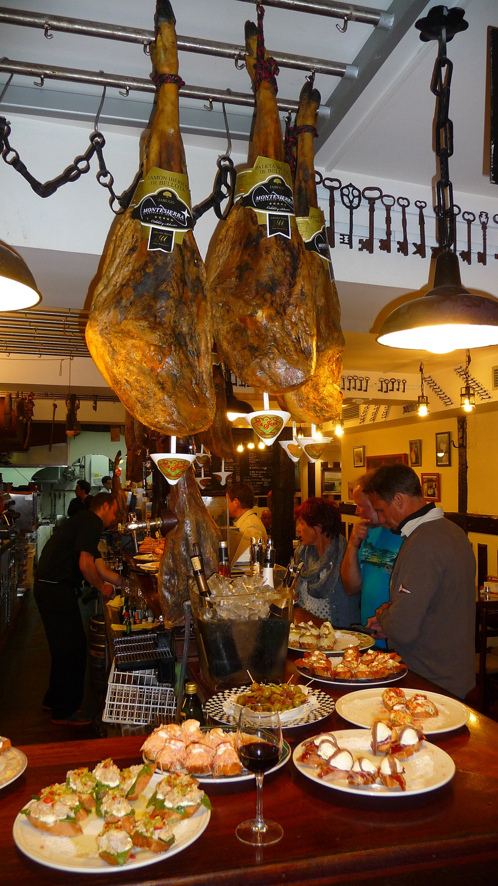 pintxos and the ham obsession of Spain in San Sebastian