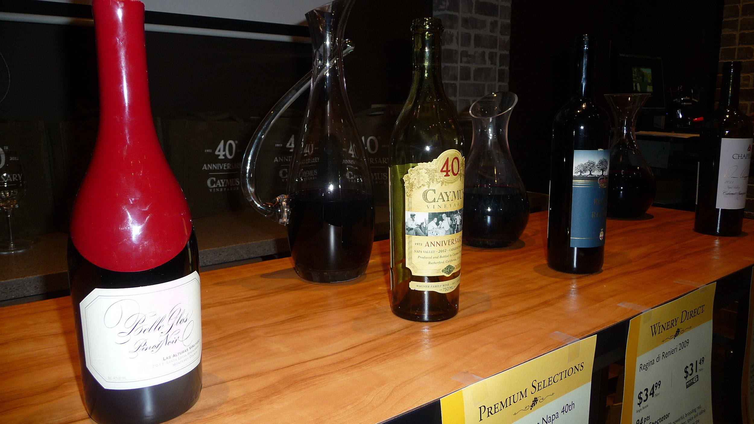 Partial Caymus wine tasting line up at Total Wine & More this past weekend