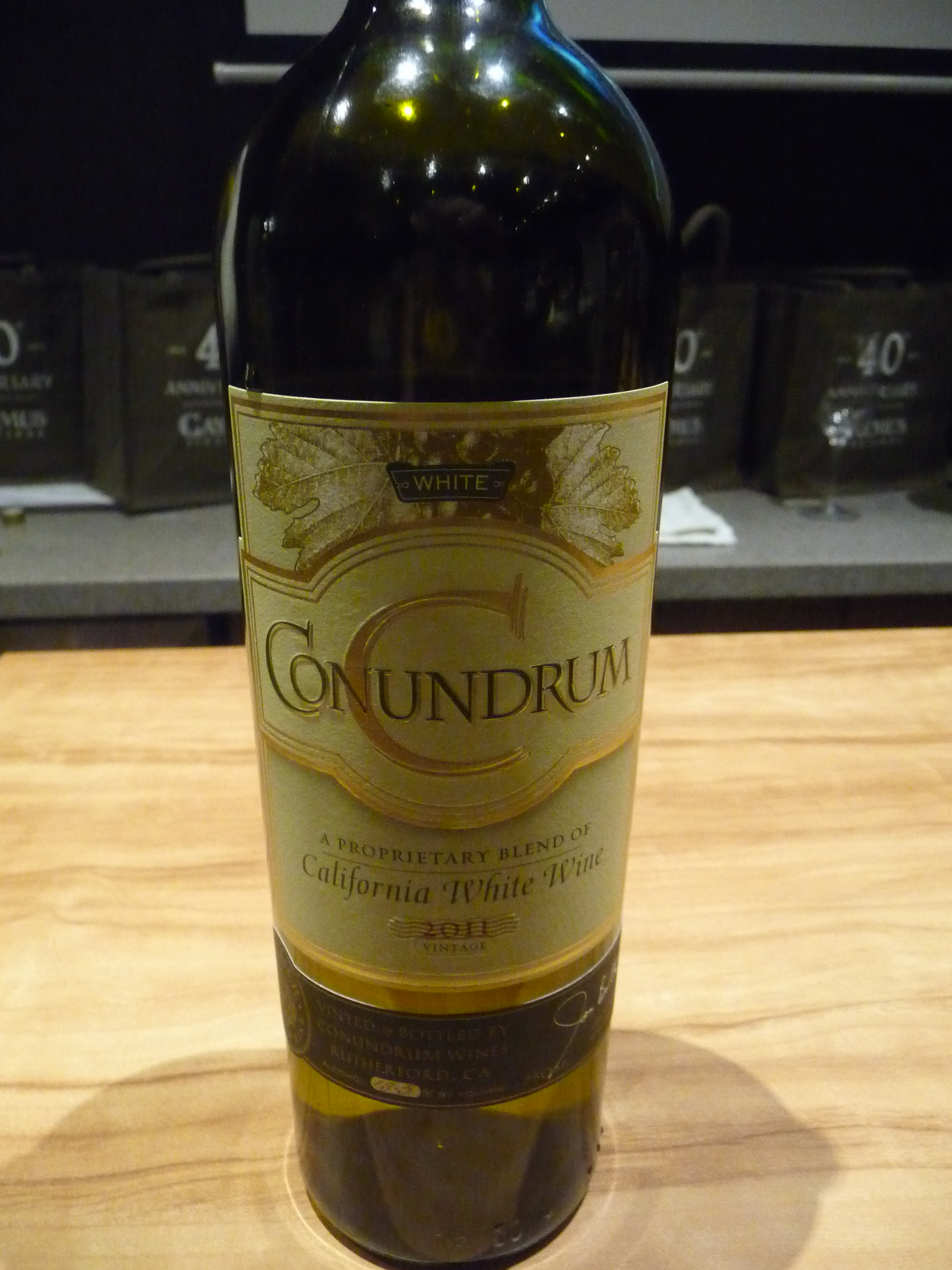 The 2011 Conundrum California White Wine-a blend of five wines