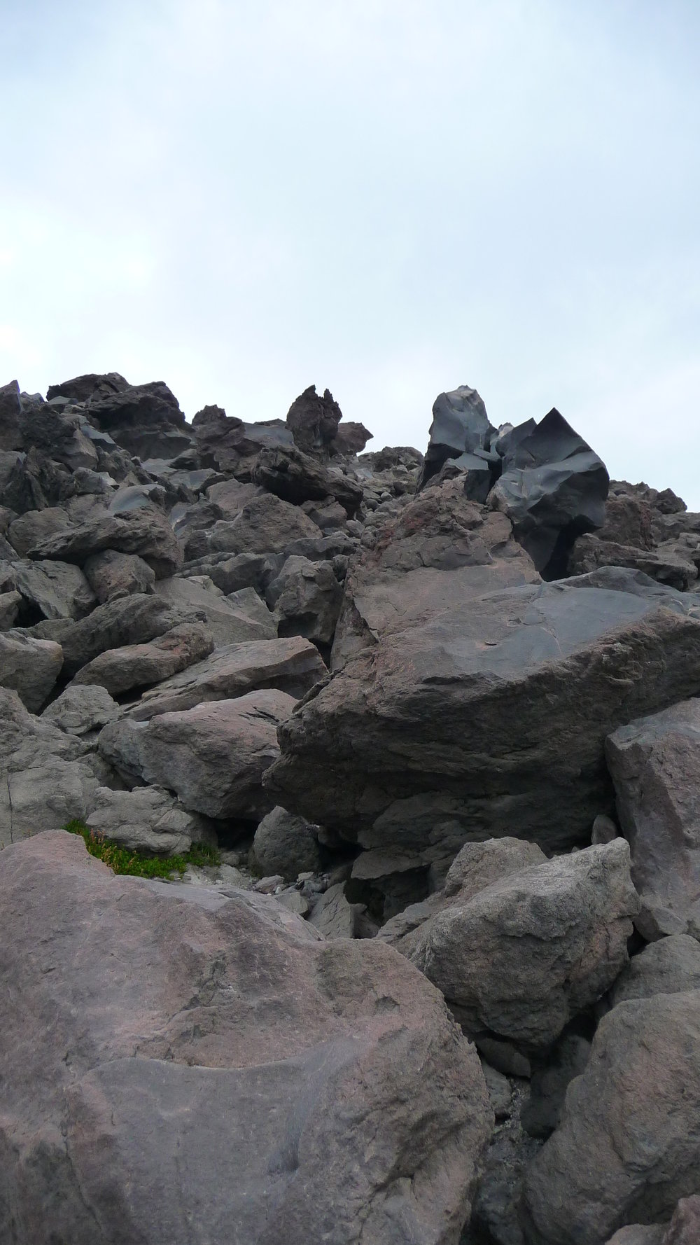 A snippet of the boulder field. When people say you climb St Helens, they're not kidding.