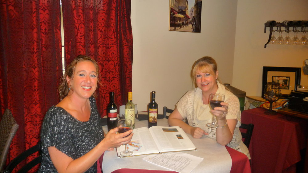 Assistant manager, Lindsey Morris and owner of Pasta GiGi's, Kathy Aikens, raise a glass to out-of-the-box wine pairings with traditional Italian dishes