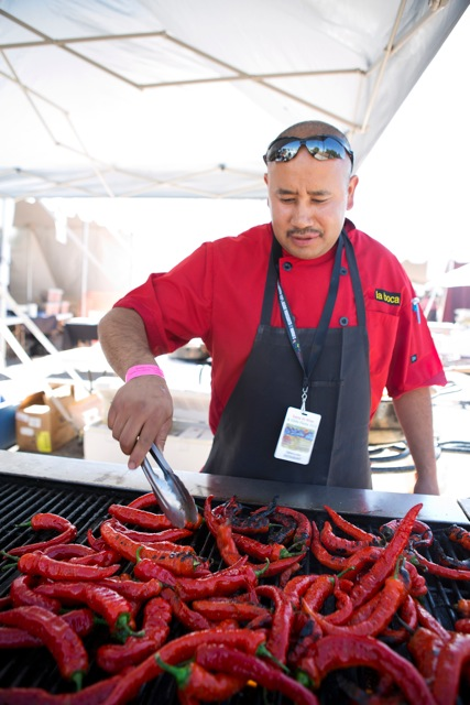 Sip some pinot gris as chefs turn up the heat at the 25th annual Santa Fe Wine & Chile Fiesta. Photo courtesy of Kate Russell Photography.