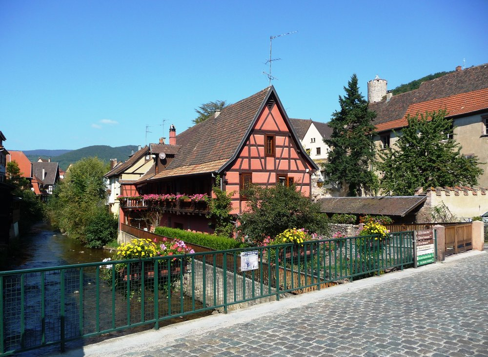 Home of Dr. Albert Schweitzer, Kaysersberg charms with cobbled roads and flower-dripped window boxes draping from half-timbered homes.