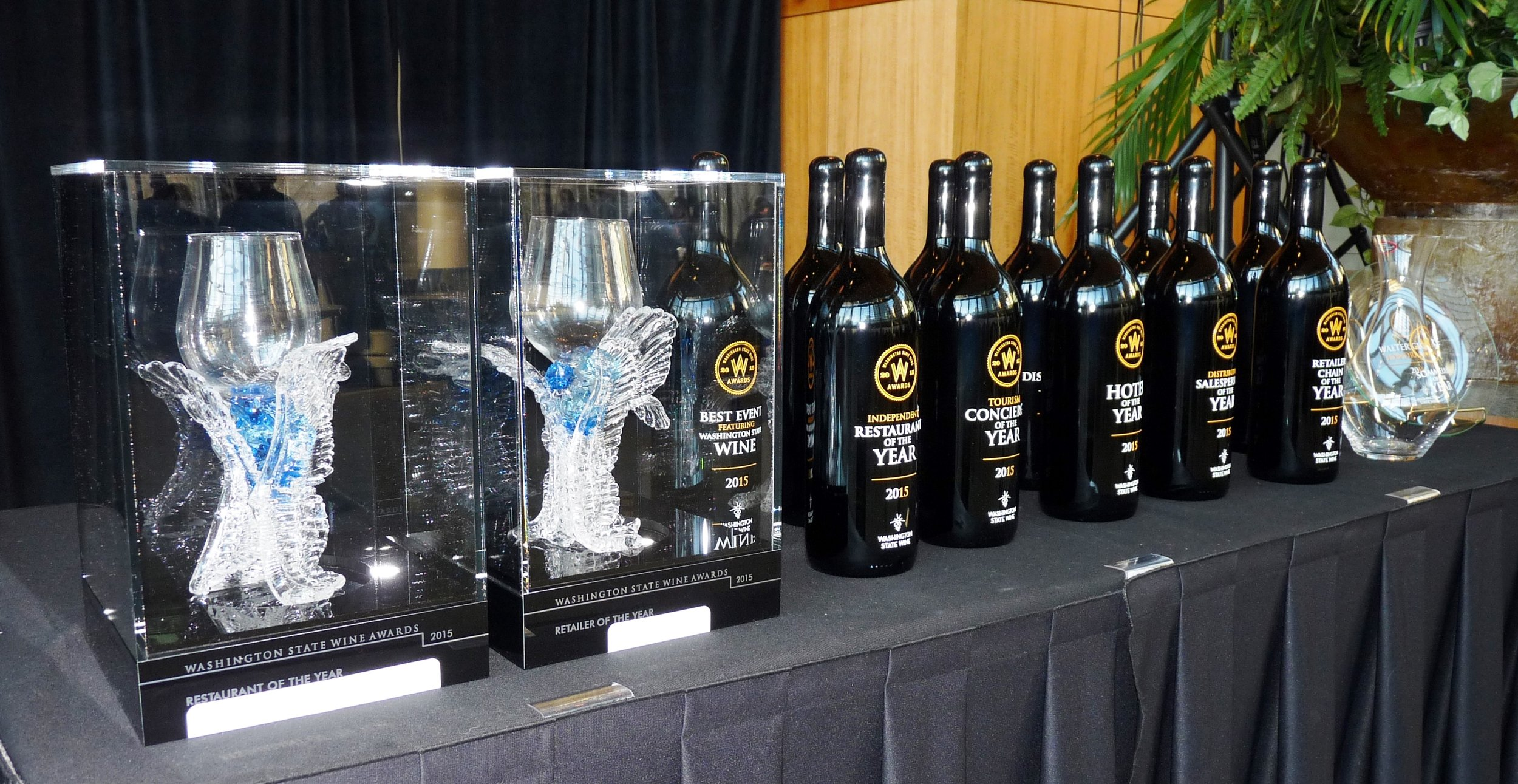 And the winner is...The 13th annual Washington State Wine Awards, held at Benaroya Hall in Seattle, focuses on restaurants, retail distributors and tourism.