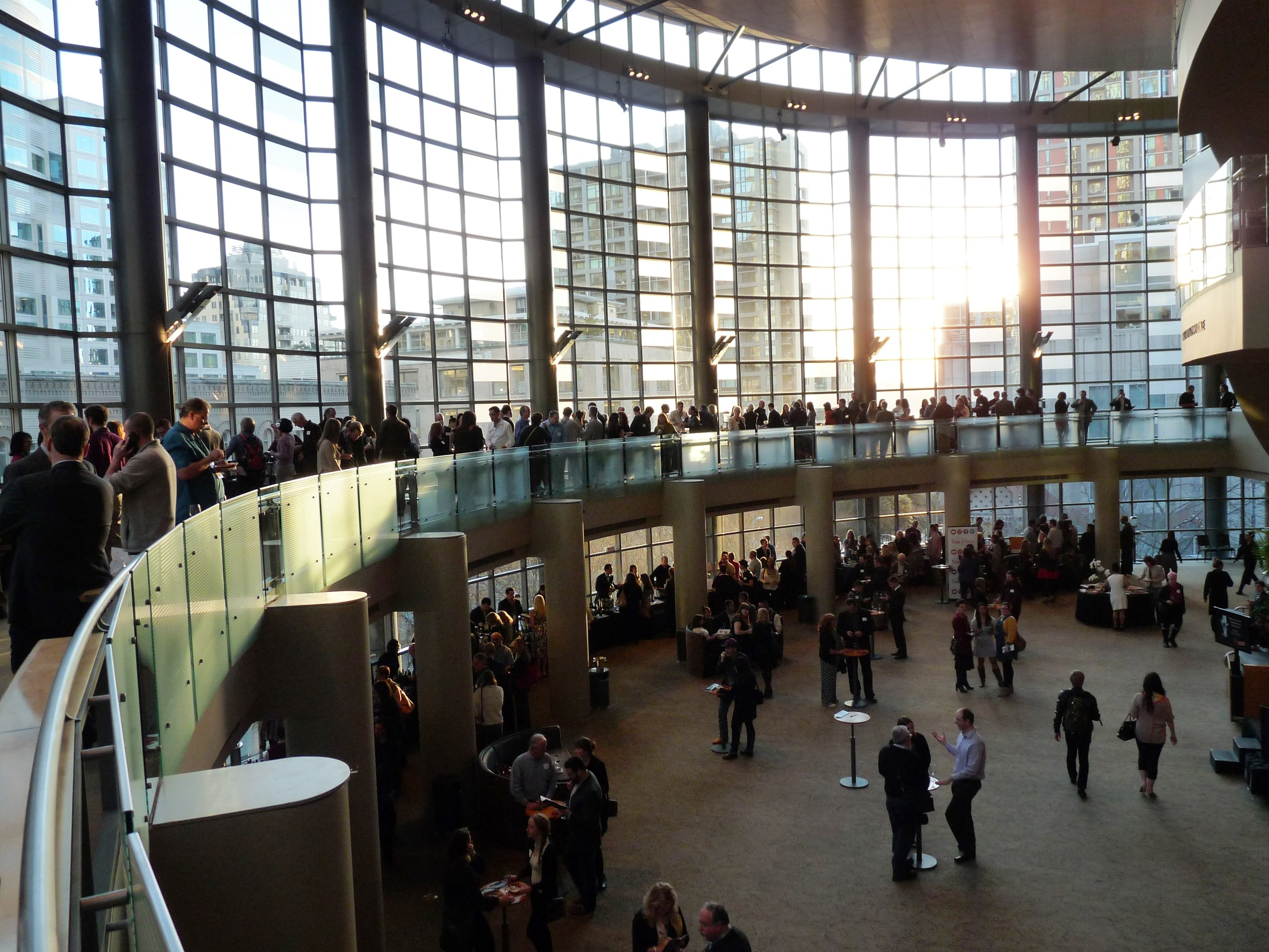 The sun shone on Benaroya Hall as 62 wineries poured over 220 wines at the Washington State Wine Awards.