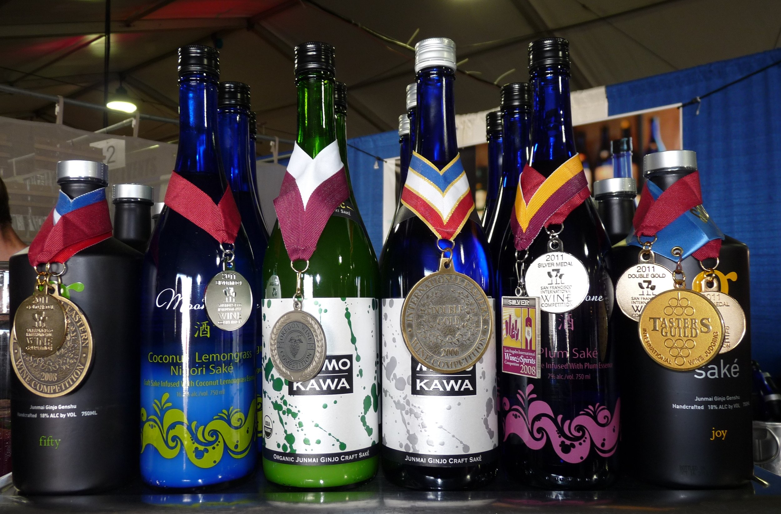 Oregon Craft Saké's award-winning lineup including their G Saké 50