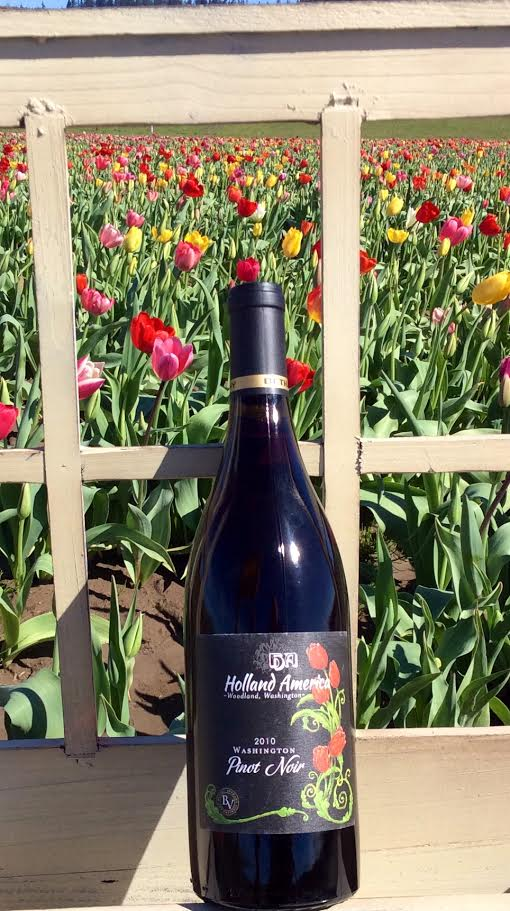 The 2010 Holland America Pinot Noir has traditional cherry notes, perfect for pairing with tuna, lamb, salmon and turkey. Photo courtesy of Holland America Bulb Farm.