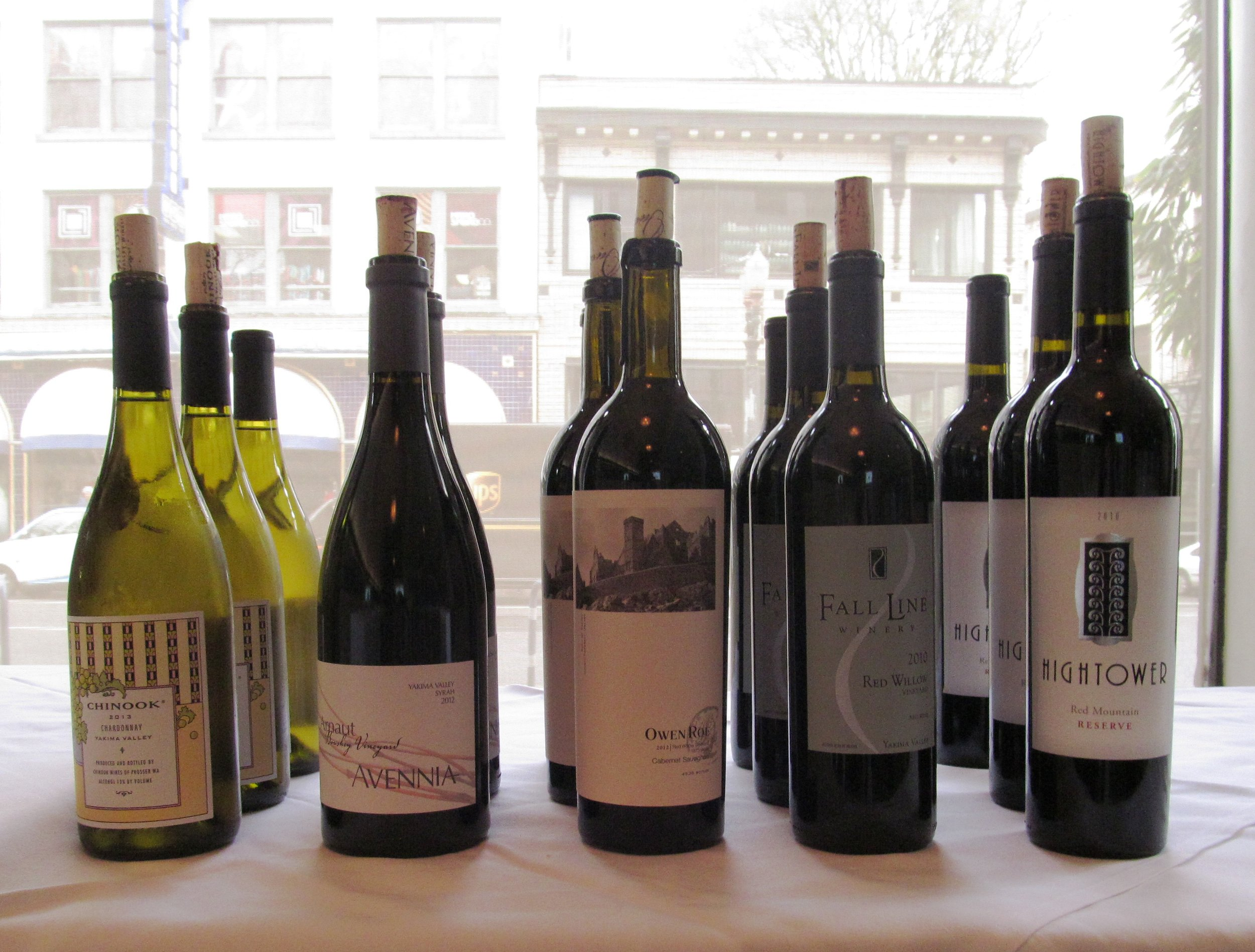 A few of the exceptional Yakima Valley wines tasted at the recent Wine Yakima Valley grower tasting held at Saucebox. Courtesy of Wine Yakima Valley.