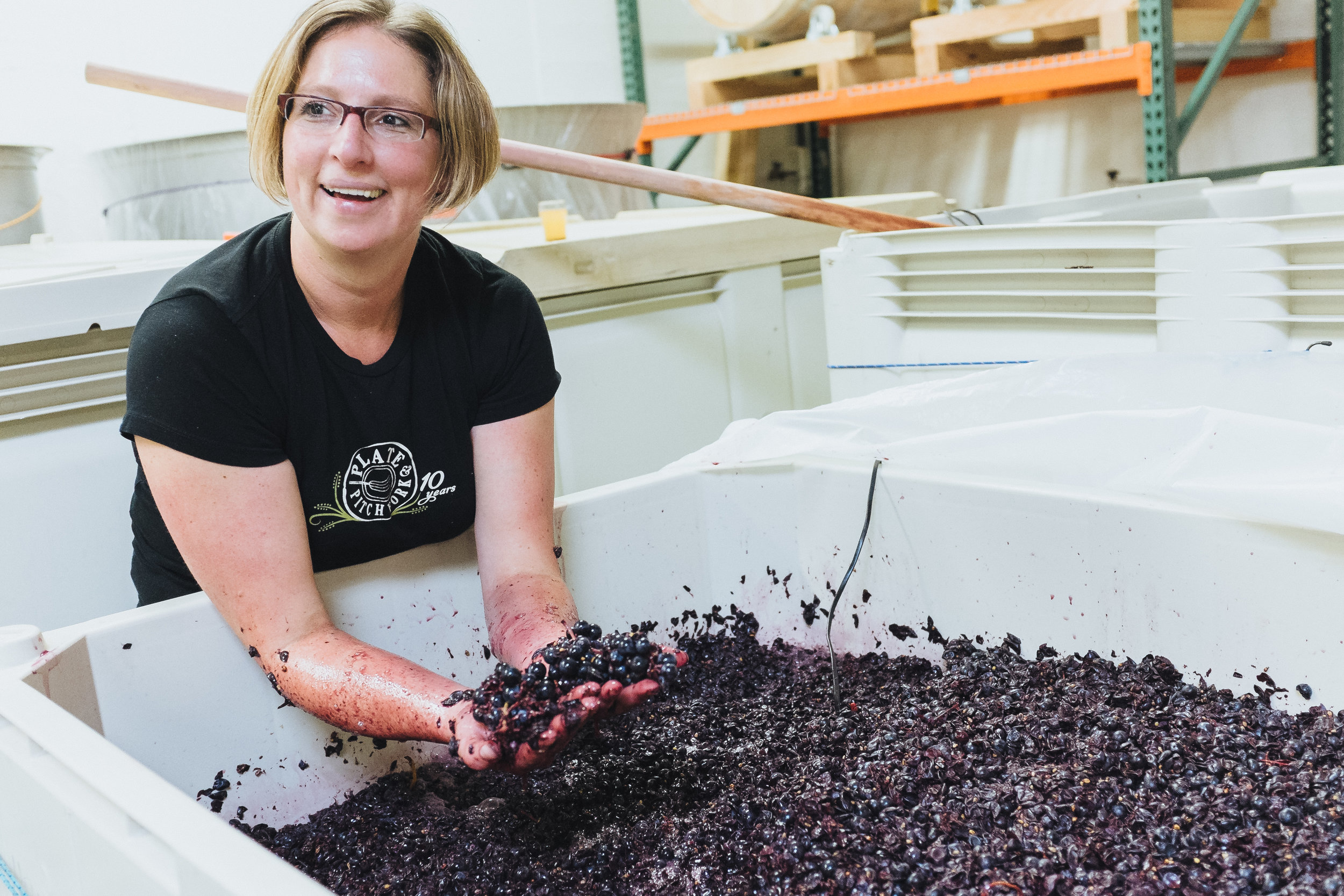 Anne Hubatch is one of the approachable members that make up the Southeast Wine Collective and winemaker at Helioterra Wines—kicking out luscious mourvèdre with grapes sourced from the Red Mountain AVA. Photo courtesy of Helioterra Wines.