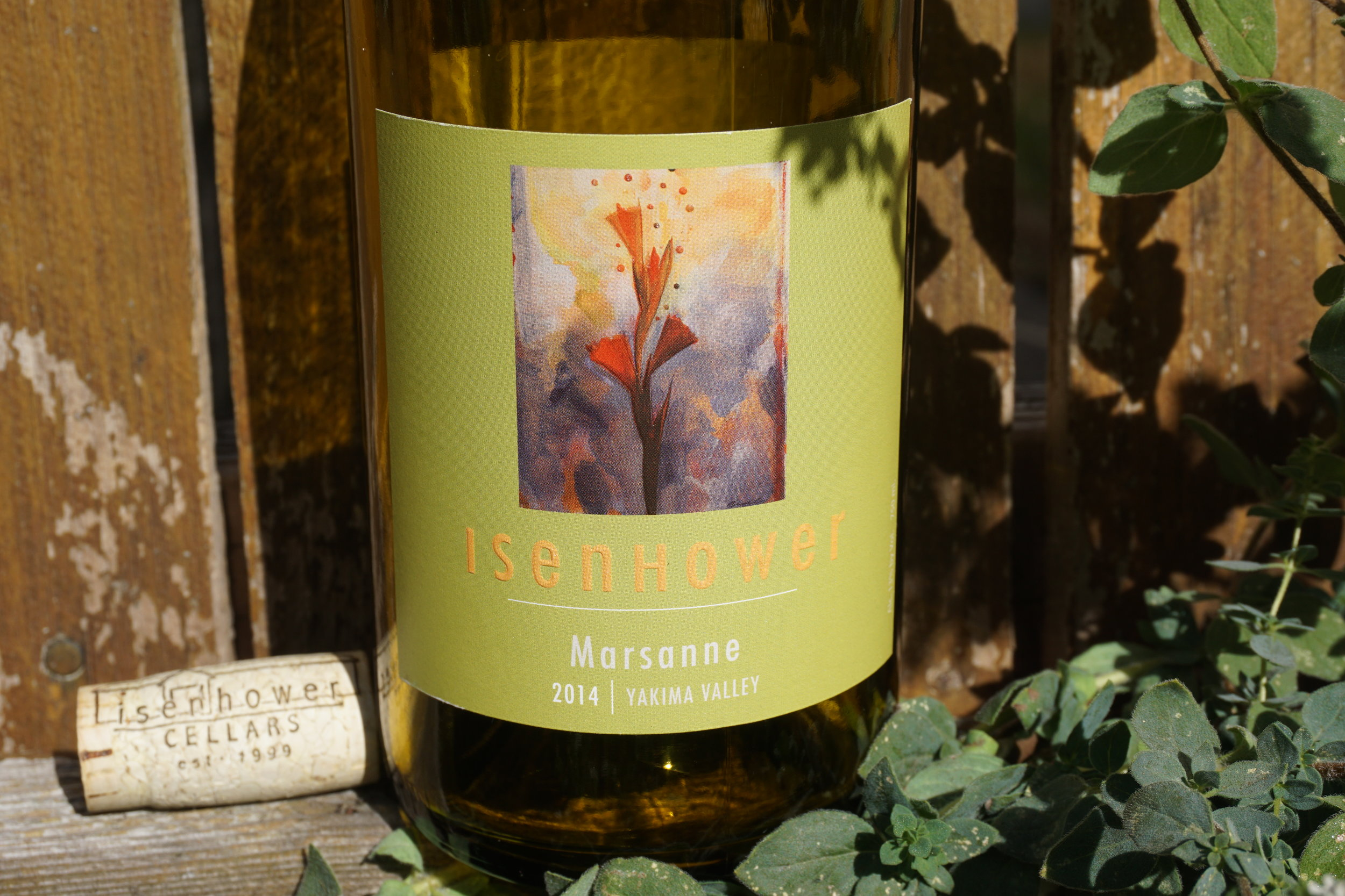 Isenhower Cellars Yakima Valley 2014 Marsanne is a unique blend to substitute a more commonly drank varietal such as chardonnay and the addition of roussanne and viognier solidify it as a Rhône-style wine. Viki Eierdam