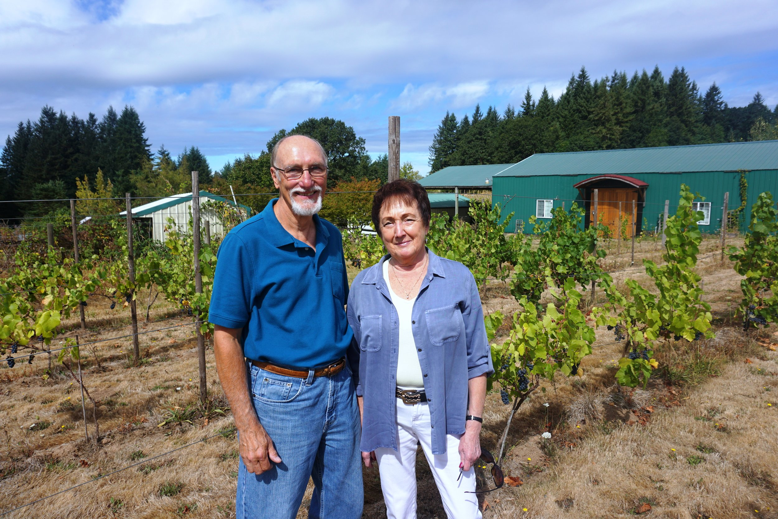 Rezabek Vineyard owners, Roger Rezabek and Donna Anderson, have been hard at work planting grape vines at their Battle Ground vineyard since the spring of 2010. Viki Eierdam