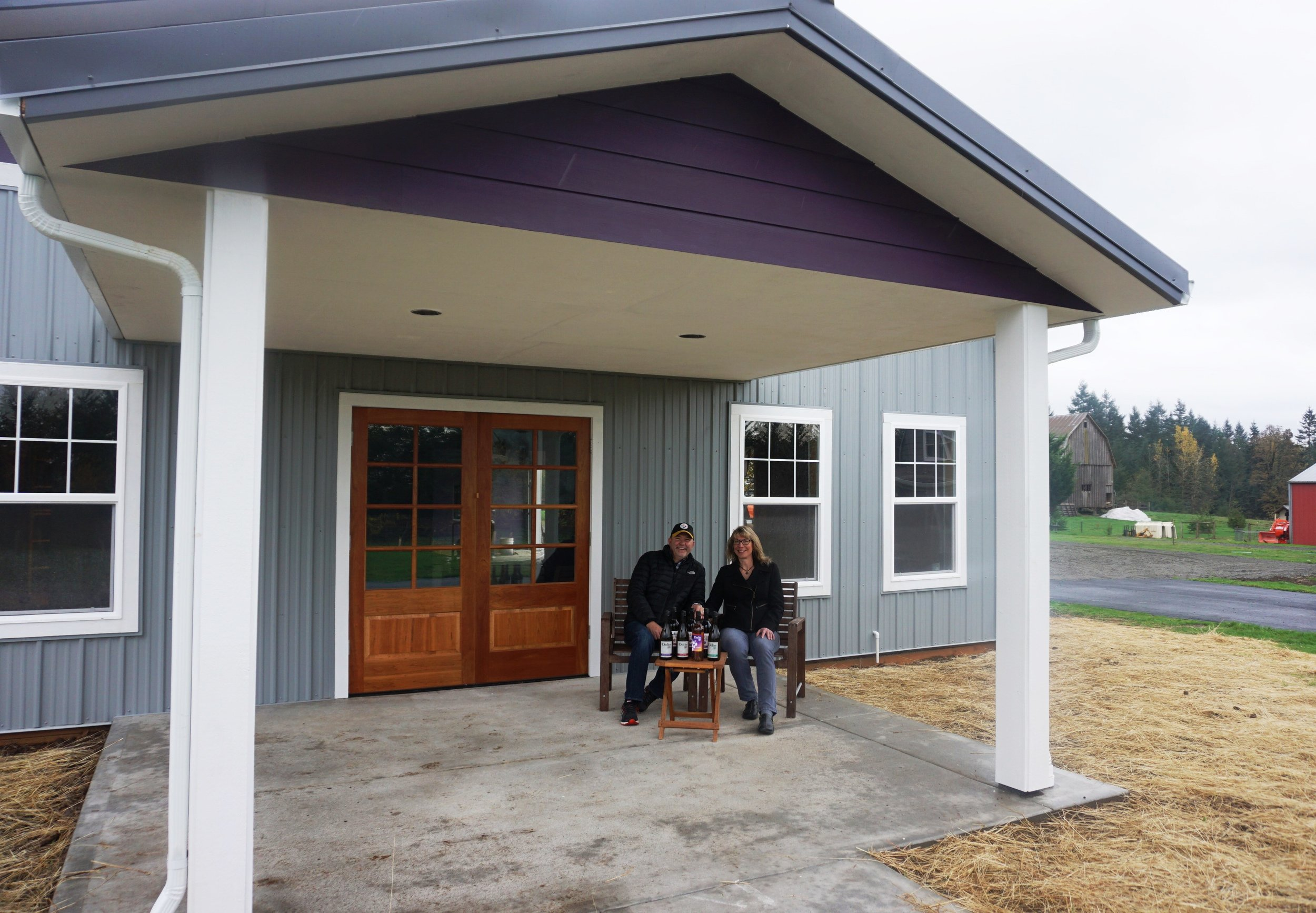 Although still a work in progress, visitors will be able to enjoy the warmth of Dolio Winery's climate-controlled tasting room during the Southwest Washington Wine Country Thanksgiving Weekend tour. Owners Don and Pam Klase pictured here. Viki Eierdam