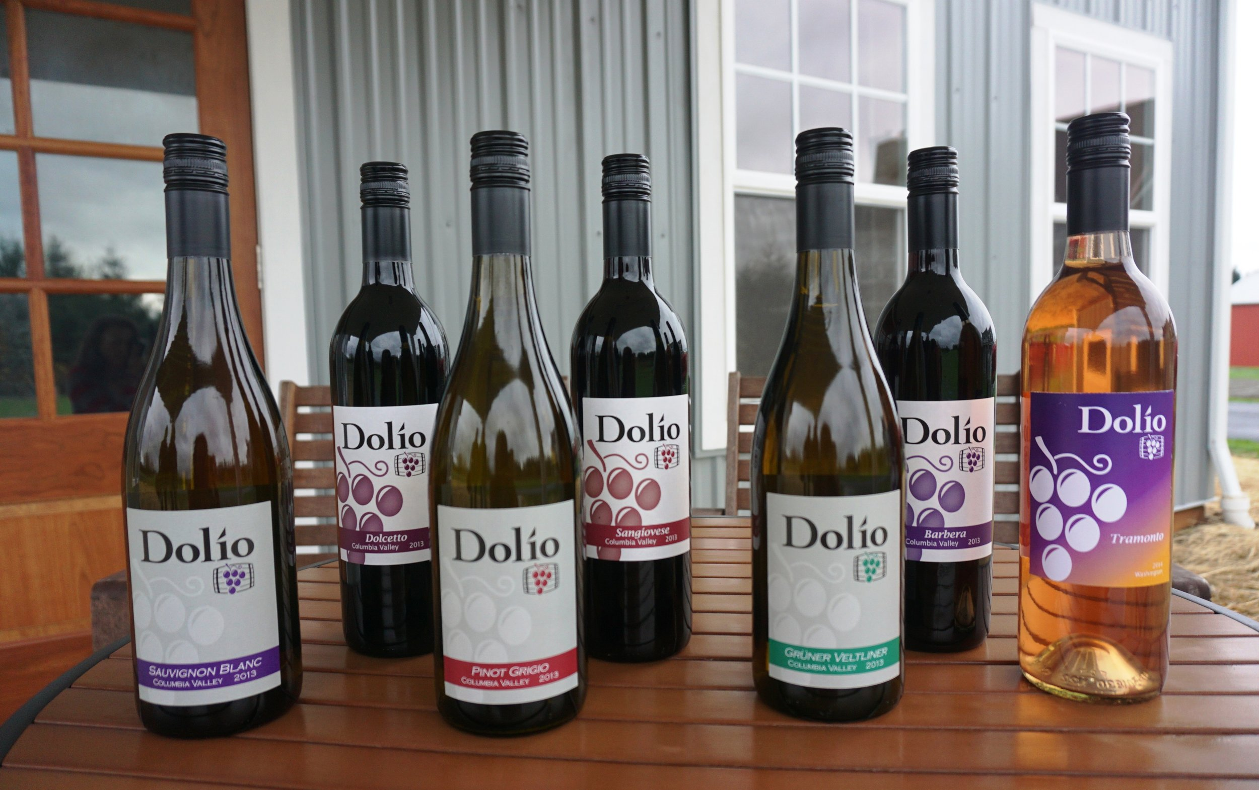 Visitors will be able to sip through Dolio Winery's Columbia Valley line-up of 2013 Pinot Grigio, Sauvignon Blanc, Grüner Veltliner, Dolcetto, Barbera, and Sangiovese during the Southwest Washington Wine Country Thanksgiving Weekend tour. Viki Eierdam