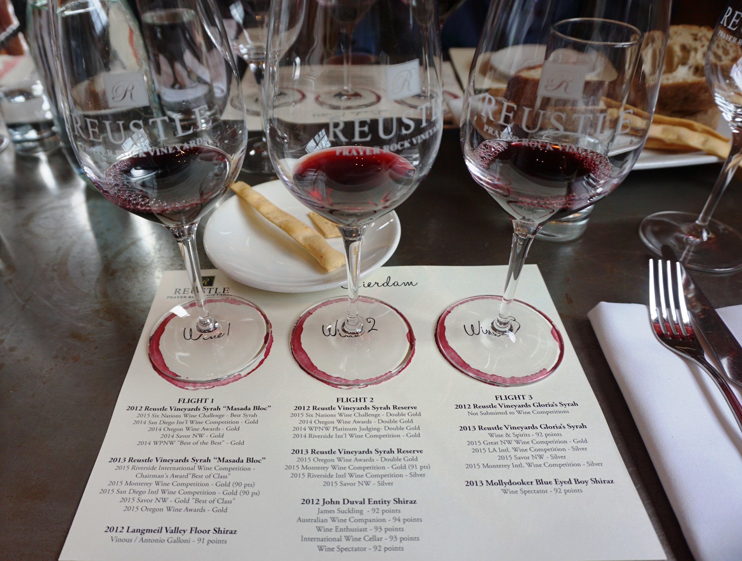 Stephen Reustle, owner and winemaker at Reustle – Prayer Rock Vineyards, and his wife, Gloria, held their first media luncheon ever at The Bent Brick in NW Portland recently to celebrate their Six Nations Wine Challenge win with their 2012 Syrah Masada Bloc. Viki Eierdam