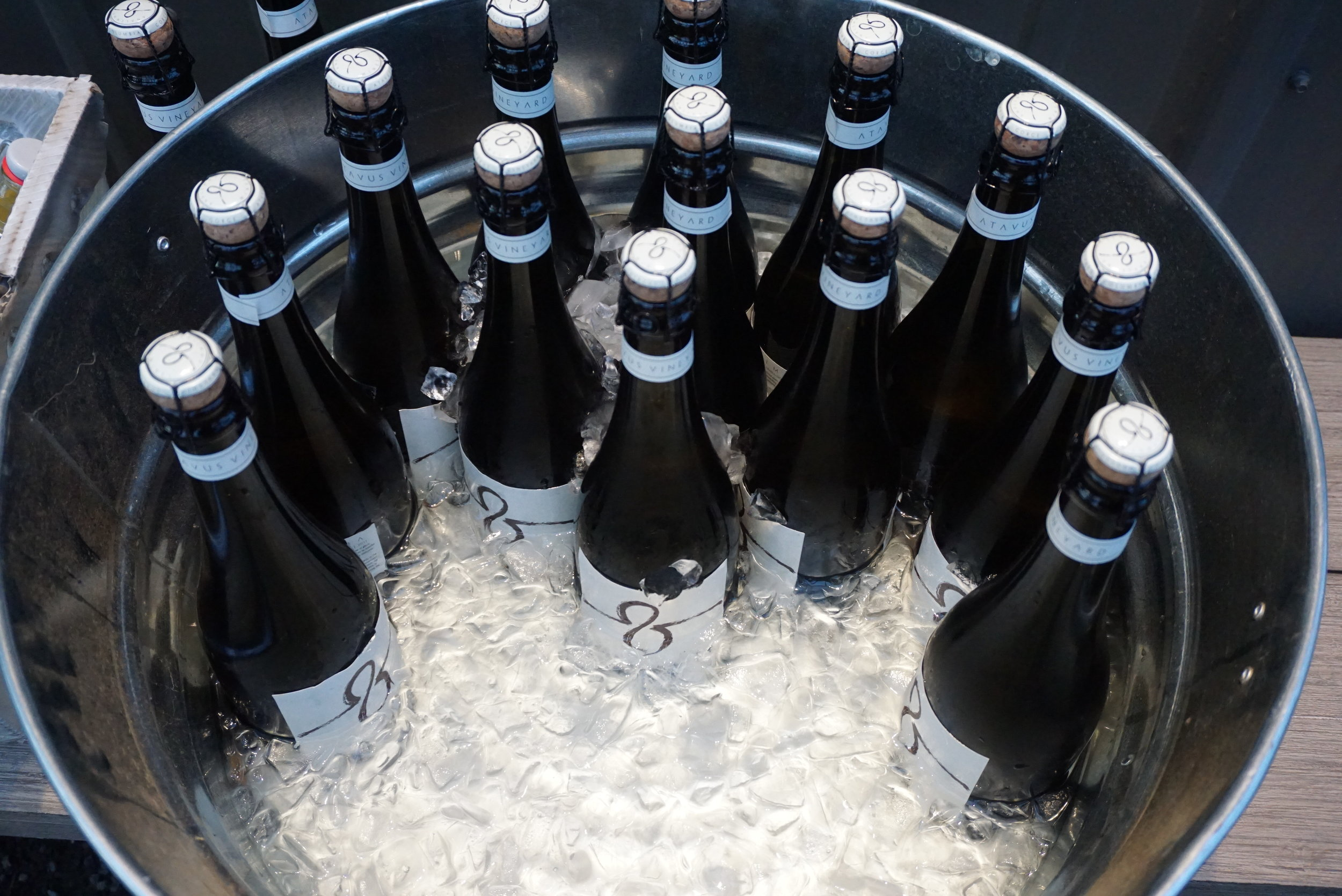 What's better than a bucket of bubbly? Locally-grown and produced bubbly. Dan Eierdam