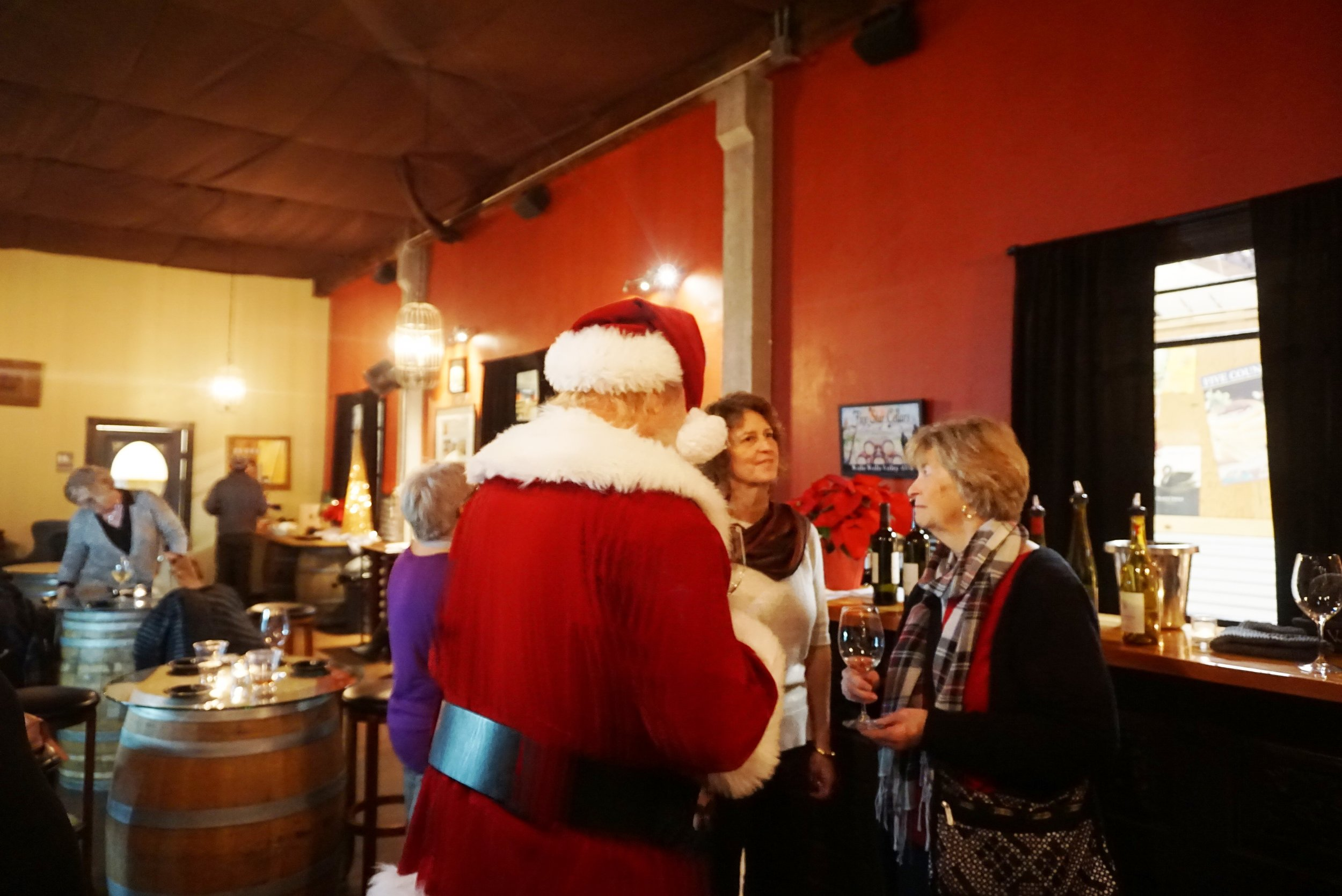 Even Santa Claus was on hand for the recent launch party of VanArnam Vineyards. Viki Eierdam