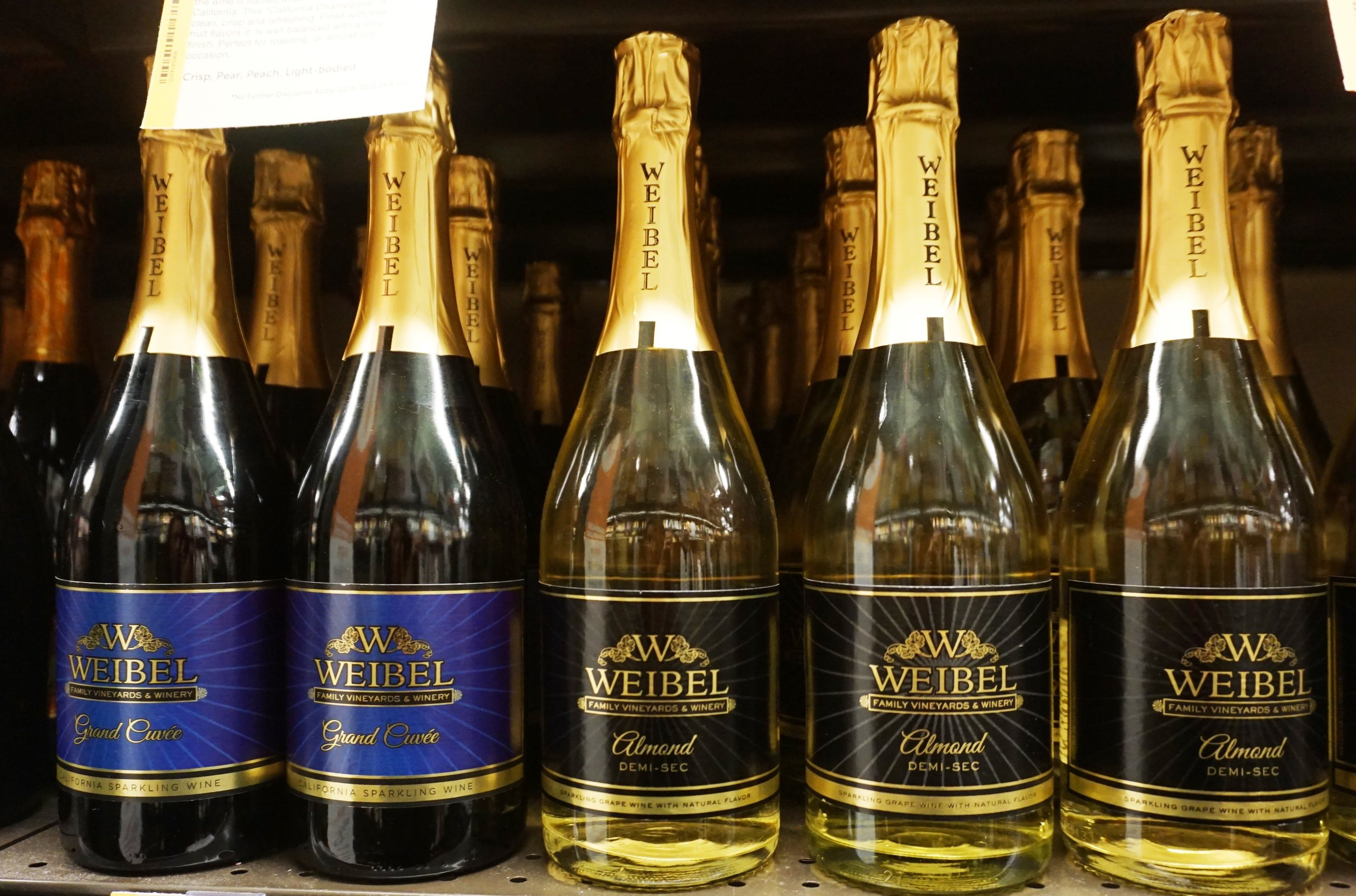 In addition to Weibel Grand Cuvee NV, Total Wine also carries all four of Weibel's flavored sparklings. Viki Eierdam