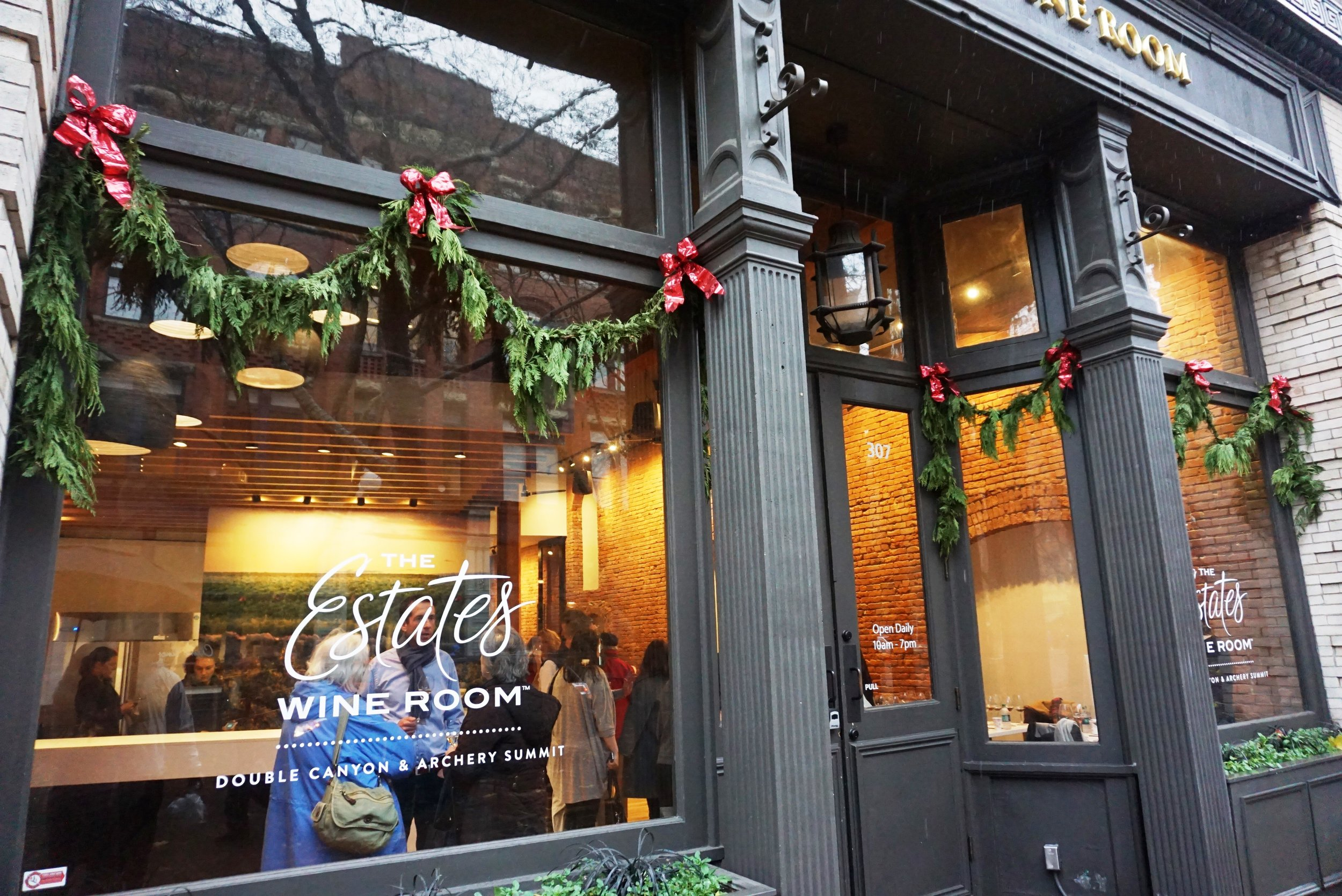 The Estates Wine Room opened in Seattle's Pioneer Square on Friday, December 11th