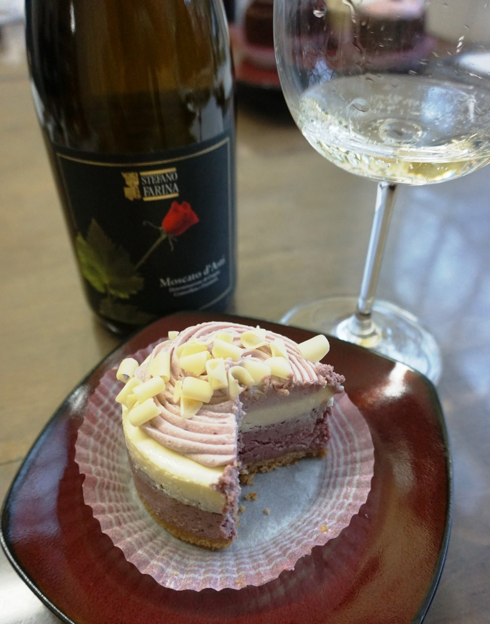 This Marionberry Cheesecake and Moscato di'Asti just might be the Valentine's Day homerun. Dan Eierdam
