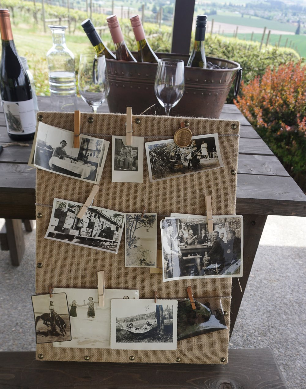 Woven Wineworks in Banks, Oregon has built their brand on 12 meticulously-labeled family photos that date back to the 1930's. Dan Eierdam