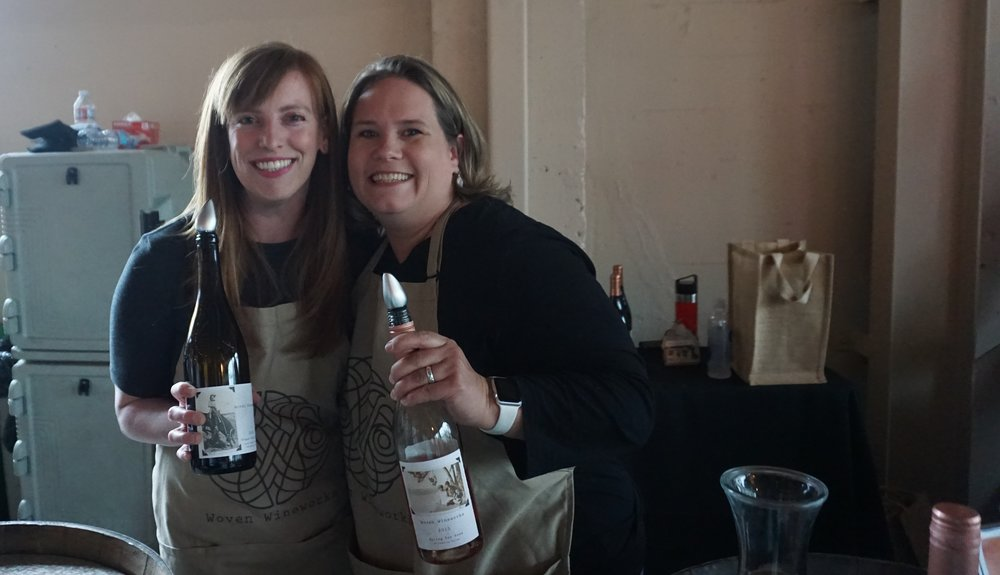 Woven Wineworks, co-owned by Elaina Spring on the right, poured two pinot noirs and a crowd-pleasing rosé, at Classic Wines Auction Corks + Forks event. Viki Eierdam