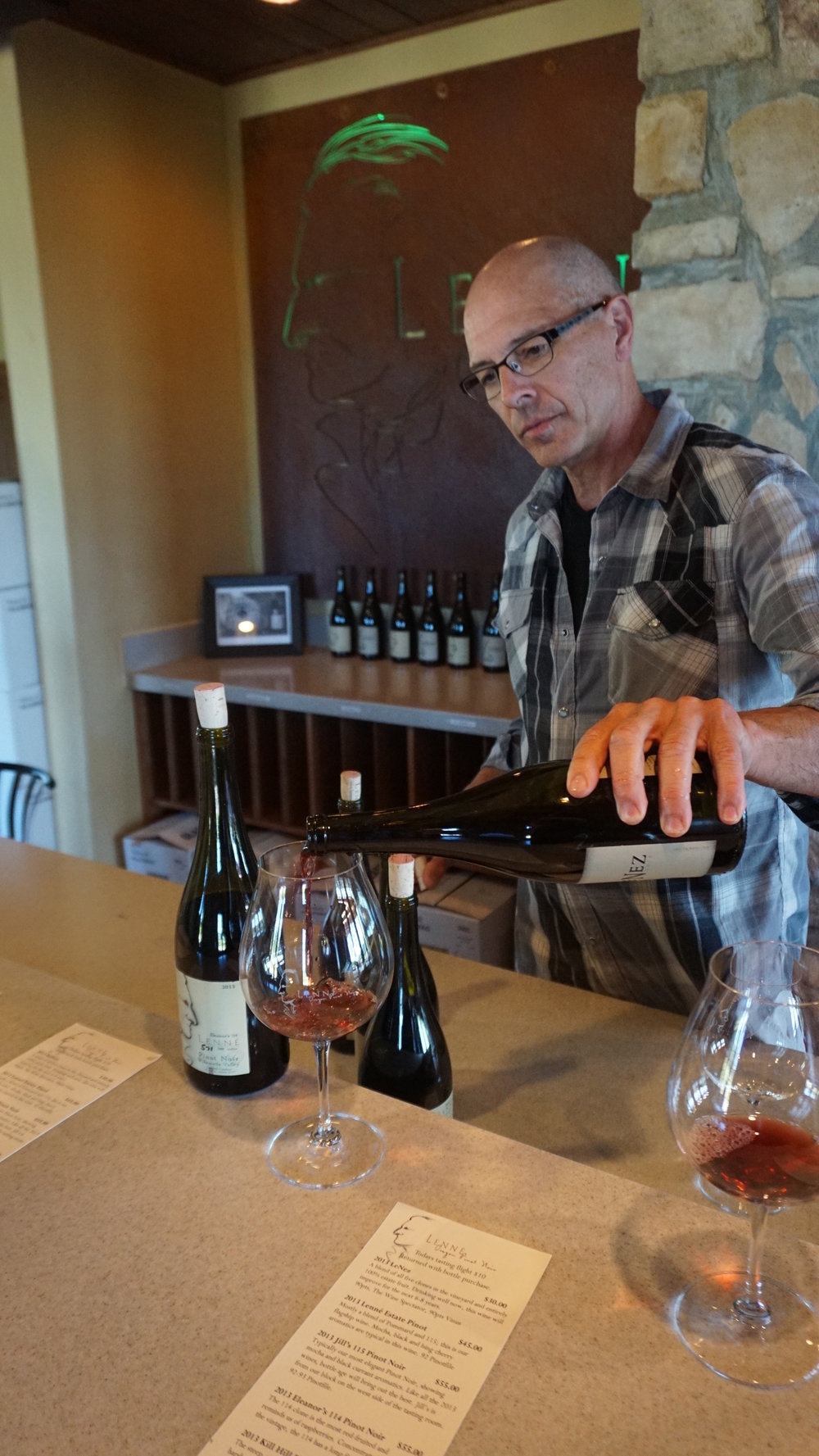 "Steve Lutz, proprietor and winemaker of Lenné Estate, said ""With Pinot Noir, it needs to hit mid-palate or it's a miss for me."" Dan Eierdam"