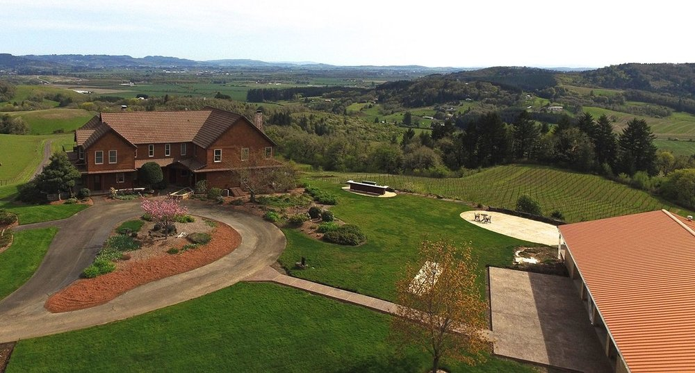 An all-weather event center was just completed at Youngberg Hill, expanded the opportunity to provide wine-focused gatherings later into the season. Courtesy of Youngberg Hill