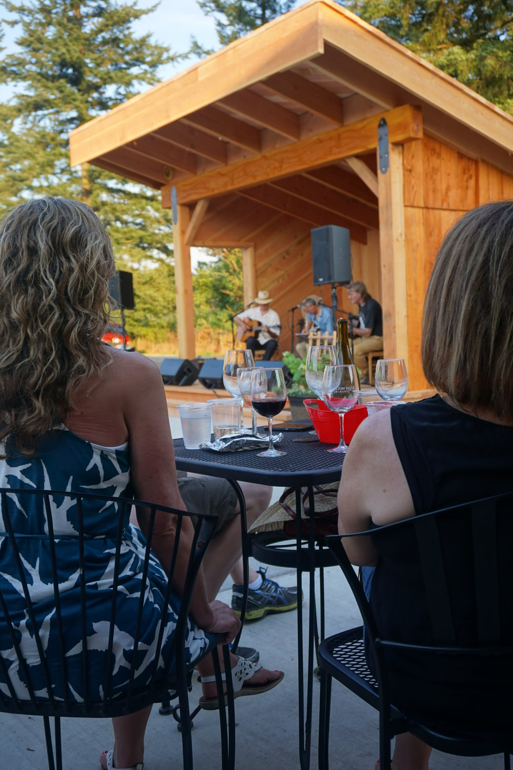 The outdoor stage at Moulton Falls Winery will provide ideal acoustics to project the sometimes flamenco, sometimes bluesy sounds of the 2nd Annual Guitar Summit at Moulton Falls Winery. Viki Eierdam