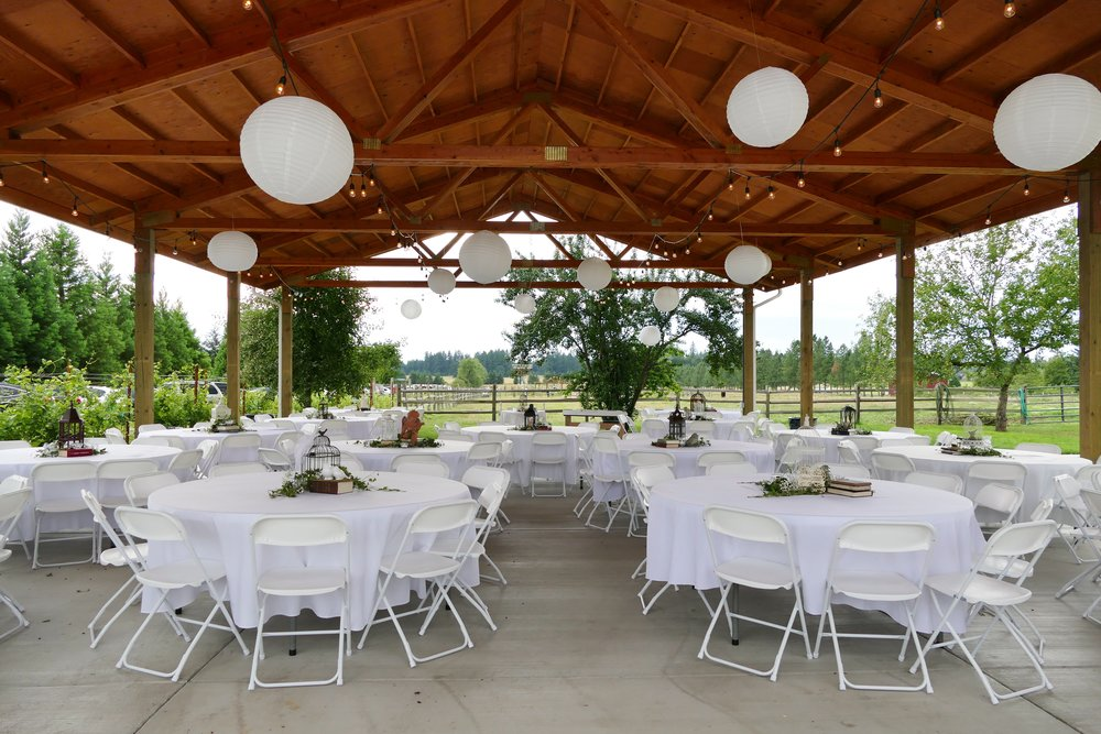 Brush Prairie's Jacquot Farm and Vineyard boasts a 36'x 60' covered and lighted pavilion for a myriad of special events. Photo courtesy of Jacquot Farm.