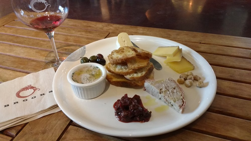 Visitors of Brooks can linger over a hearty charcuterie and cheese board with a well-balanced bottle of 2014 Crannell Pinot Noir. Viki Eierdam
