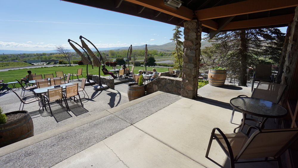 During the summer months, it's hard to top a view from the patio at Treveri Cellars and a bottle of locally-made bubbles. Dan Eierdam