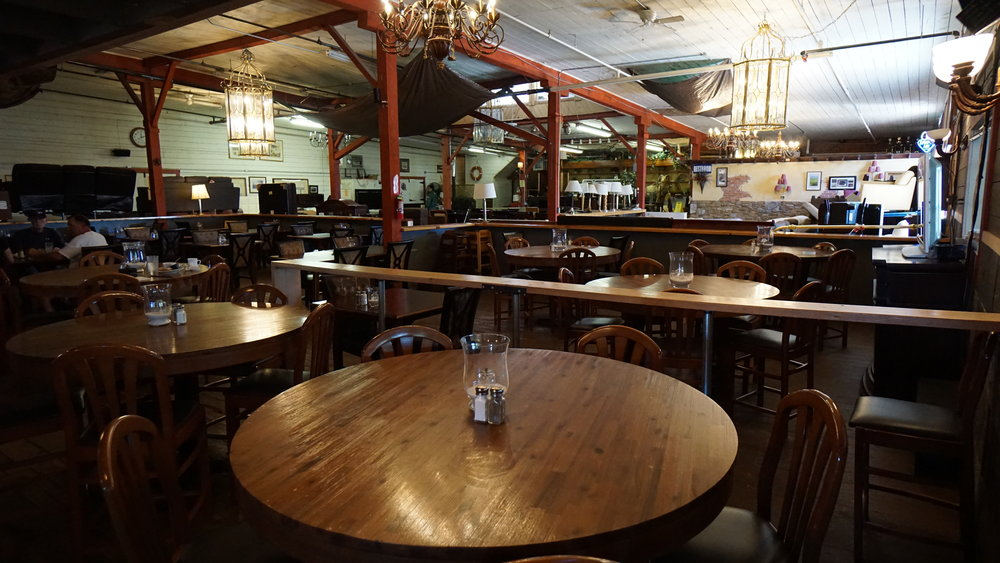 The Chophouse at the Old Warehouse serves up palate-pleasing creole chicken burgers, reubens, prime rib dip, crab cakes and country fried steak even during furniture auction hours.  Viki Eierdam